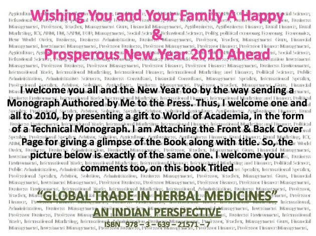 WISHING YOU AND YOUR FAMILY A VERY HAPPY AND PROSPEROUS NEW YEAR