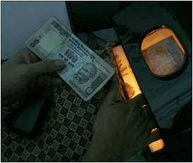 Teller Machine Counting Currency Notes-- INR