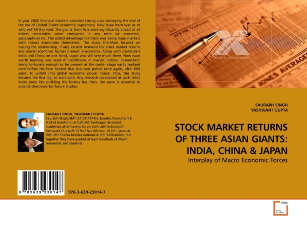 Cover Page Picture of Book Titled Stock Market Returns of Three Asian Giants : India China & Japan