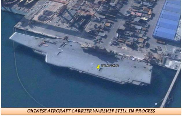 CHINESE AIRCRAFT CARRIER SHIP STILL IN PROCESS