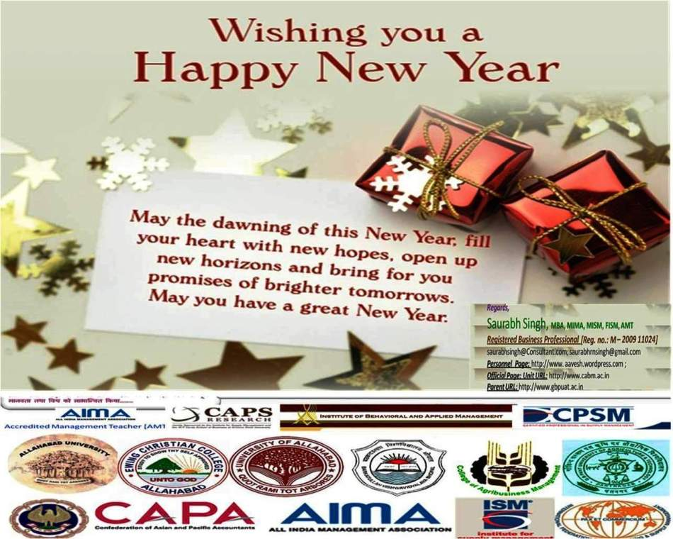 A New Year Wish Card