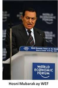 Hosni Mubarak at World Economic Forum