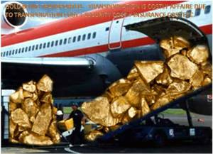 Image - Gold being Transported via Air