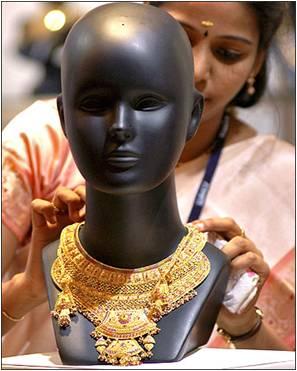 Image - Gold Jewellary at Display
