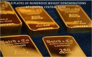 Image - Gold of Merchants in Various Weights put at London Central Bank